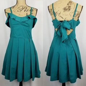 3/$40 Teal Party Pocket Dress Large